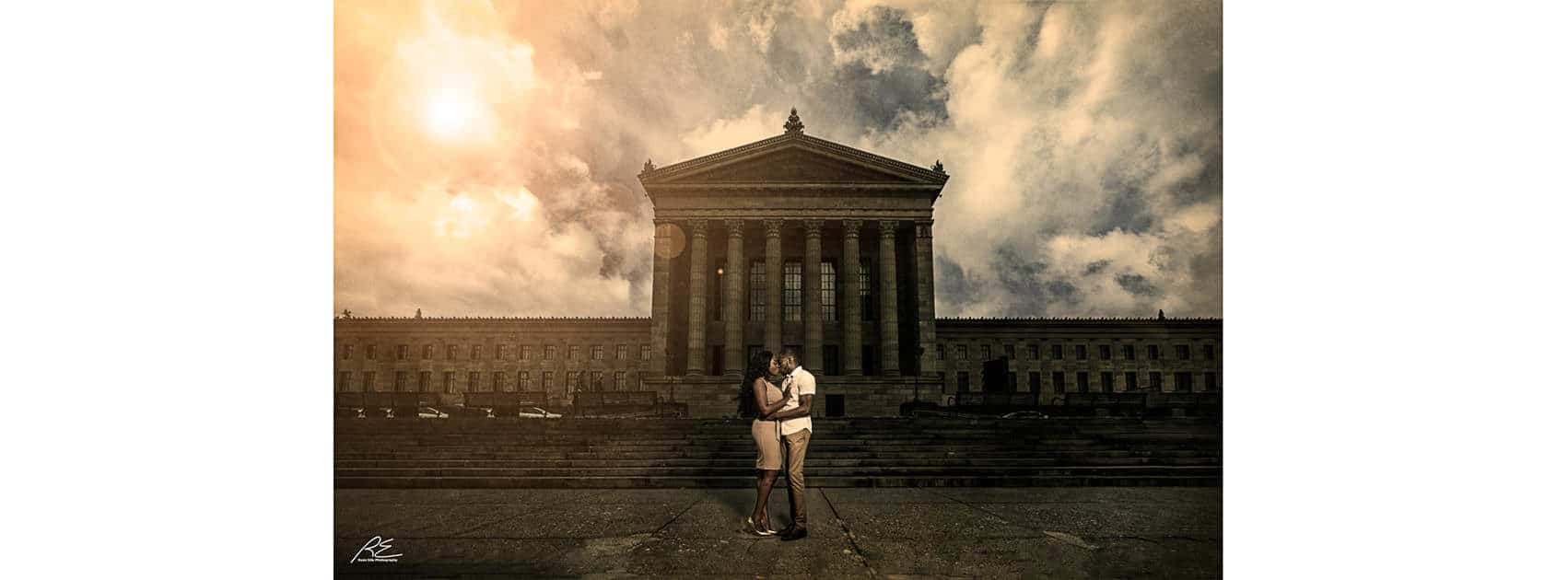 Engagement session at Art Museum Waterworks