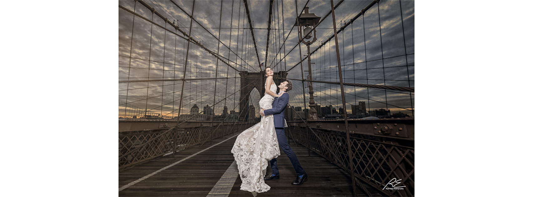 Enzoani Brooklyn Bridge NYC Wedding